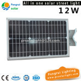 Lâmpada ao ar livre psta energy-saving do diodo emissor de luz da parede do painel solar do sensor do diodo emissor de luz
