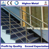 Extrémité de tube d'acier inoxydable pour la balustrade en verre de balustrade de système à rails
