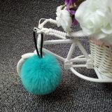 方法毛皮POM Keychainか擬似柔らかい球のキーホルダー