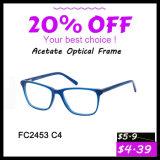 2016 frames óticos especiais do acetato da forma nova do projeto para mulheres