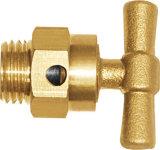 Vávula de bola de cobre amarillo de la verificación de cobre amarillo de la oblea de la cuerda de rosca masculina