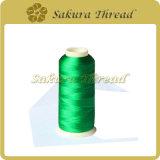 Marca 100% di Sakura del filetto del ricamo del poliestere del filamento del poliestere