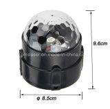 5 cores LED DJ Party Light Rgbwp Mini projetor de cristal de esfera mágica de cristal LED com controle remoto
