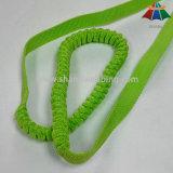 Las correas elásticos de los PP del verde de cal de 1 pulgada para las manos liberan los correos del perro de Runing