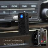 Adaptador sin manos audio claro de Bluetooth de la voz que habla para el coche