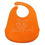 キャッチャーのオレンジが付いているNon-Disposable FDA/LFGBの承認の赤ん坊の摩耗のシリコーンの胸当て