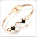 方法宝石類の真珠の宝石類のステンレス鋼の腕輪(BR1053)