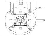Erowa EDM機械で使用されるチャックのアダプター版
