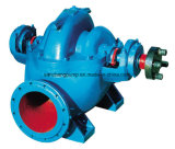 Bomba partida de alta presión del caso de la succión doble de la sola etapa del flujo grande