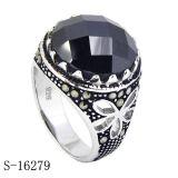 925 de echte Zilveren Mensen van de Ring van de Manier
