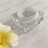 Vaso crema acrilico trasparente del quadrato 5g per l'imballaggio dell'estetica (PPC-ACJ-083)