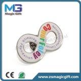 Pin a buon mercato personalizzato caldo di stampa del metallo di vendite con la cupola a resina epossidica