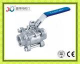 3PC robinet à tournant sphérique fileté par femelle de l'usine Ss301 3000psi