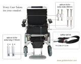 10 بوصة [رر وهيل] قوة كهربائيّة يطوي كرسيّ ذو عجلات, [دروبل] [بوورشير] طبّيّ, فائقة خفيفة [إ-وهيلشير], يصمّم لأنّ داخليّة و [أوس.] محدودة خارجيّة