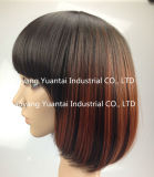 Perruque synthétique courte de cheveu d'Ombre pour la sensation de cheveux humains de femme