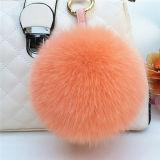 帽子または実質のキツネの毛皮POM Pomsのための毛皮の球のキーホルダーか毛皮のポンポン