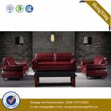 Sofa moderne de bureau de divan de cuir véritable de meubles de bureau (HX-CF015)