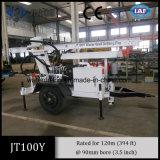 Piattaforma di produzione montata piccolo rimorchio dei pozzi d'acqua di Jt100y portatile