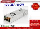 Wechselstrom 110/220V Streifen-Stromversorgungen-zur Ein-Outputserien-Schaltungs-Stromversorgung Gleichstrom-12V25A 300W