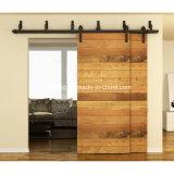 Kit de madera de desplazamiento rústico del armario del hardware de la puerta del granero de puente para 4 puertas