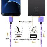 마이크로 USB 케이블 2A 빠른 책임 튼튼한 고속 USB 2.0 마이크로 B Sync에 남성 및 인조 인간을%s Samsung를 위한 비용을 부과 데이터 케이블