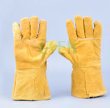 De dubbele Handschoenen van de Palm voor Arbeider/de Dubbele Handschoenen van het Leer van de Palm voor Verkoop
