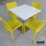 Gaststätte-Möbel-Quadrat-fester Oberflächensteinmarmorspeisetisch (T1703012)