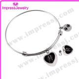 Het Roestvrij staal van de Juwelen van de As van Pulseras Mujer Pulseiras van de Armband van de Charmes van het hart/van de Markering