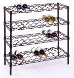 Шкаф вина металла регулируемого крома 4 ярусов плоский (CJ-A1204)