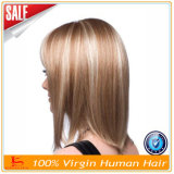 La peluca delantera del cordón/ata por completo pelucas del pelo humano de la peluca el 100%