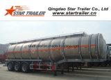 Rimorchio del serbatoio di trasporto del combustibile della lega di alluminio dei 3 assi