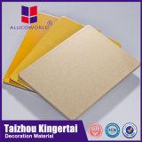 Цены листа плакирования самомоднейших строительных материалов листа гранита Alucoworld алюминиевые