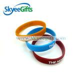 Debossed 2017 ou Wristbands personalizados impressos do silicone da forma com logotipo