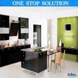 卸し売り現代流行の黒い無光沢のラッカー木の食器棚