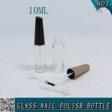 10ml effacent autour de la bouteille en verre de vernis à ongles de balai