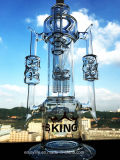 Arm-Baum Perc abgetrennte Mohikaner-Form mit Blumen-Trichter-rauchendem Wasser-Glasrohr