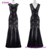 Los mejores vestidos de noche de las compras en línea atractivas negras
