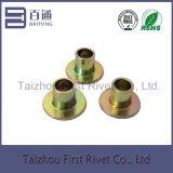 lo zinco di 6X6mm ha placcato il ribattino d'acciaio tubolare pieno capo piano