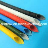 Fibra de vidro revestida do silicone da classe de H que Sleeving 1.2-7kv