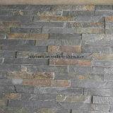 黒いまたは灰色の外壁のクラッディングの文化的な石造りのベニヤ