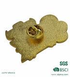 Металл золота с подгонянным значком