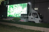 Carro móvil de la muestra del LED para la comercialización comercial de la ciudad