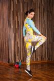 工場価格の女性の長い袖によってカスタマイズされるプリント体操のトレーニングのスポーツ・ウェア