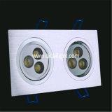 3X2w poder más elevado LED Downlight 3 años de garantía