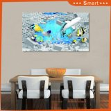 Manufactory Custom Products 3D Cartoon Peixe e tijolos Foto Decoração Children Room Wallpaper Murals