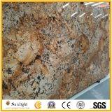 Lastre dorate brasiliane del granito di Persa per le mattonelle/parti superiori di Countertops&Vanity