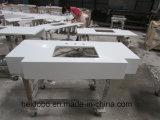 Parte superiore beige marmorizzata di vanità della stanza da bagno di Undermount del quarzo
