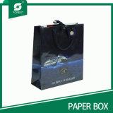 De kleurrijke Afgedrukte Zak van het Document van Kraftpapier met Glanzende Laminering