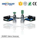 De Hoge snelheid Galvo HoofdJs2807 van de Apparatuur van de laser voor het Merken van de Streepjescode