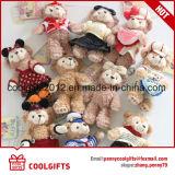 De in het groot Gevulde Giften van het Speelgoed van Keychain van de Pluche van de Teddybeer Zachte voor Minnaars